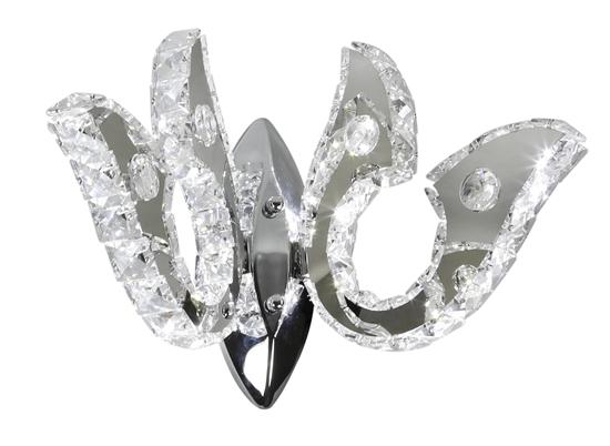 Kinkiet chromowy LED podwójny z kryształkami 10W Venezia Candellux 22-55507