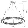 Lampa wisząca chromowa okrągła LED 12W RGB + pilot Lords Candellux 31-63113
