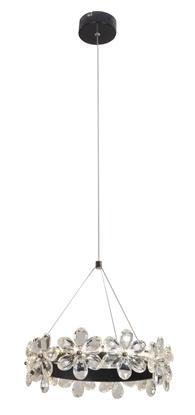 Lampa wisząca czarna LED 14W 3000K szklane kwiaty Arvin Candellux 31-69702