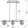 LAMPA SUFITOWA WISZĄCA CANDELLUX STARLET 33-85743  G9 CHROM / TRANSPARENT