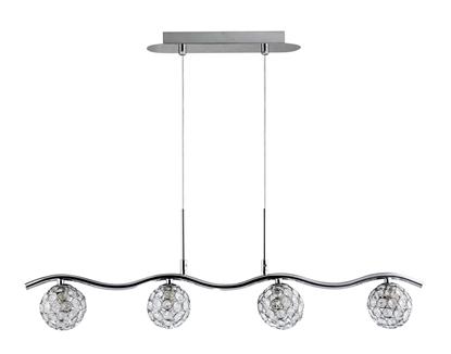 LAMPA SUFITOWA WISZĄCA CANDELLUX STARLET 34-85750  G9 CHROM / TRANSPARENT