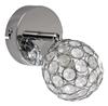 LAMPA ŚCIENNA KINKIET CANDELLUX STARLET 91-85781  G9 CHROM / TRANSPARENT