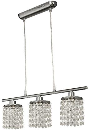 Lampa wisząca chrom z kryształkami białymi 3x40W Royal Candellux 33-28108