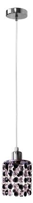 LAMPA SUFITOWA WISZĄCA CANDELLUX ROYAL 31-36233  G9 CHROM+KRYSZTAŁKI CZARNE