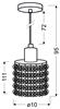 Lampa wisząca chromowa z kryształkami czarno-białymi Royal Candellux 31-36233