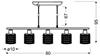 Lampa wisząca chrom z kryształkami czarno-białymi 5x40W Royal Candellux 35-35724