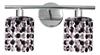 Kinkiet podwójny chromowy z kryształkami biało-czarnymi 2x40W Royal Candellux 92-36257