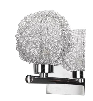 Kinkiet chromowy w oplocie metalowym kula szklana Wind Candellux 21-14078