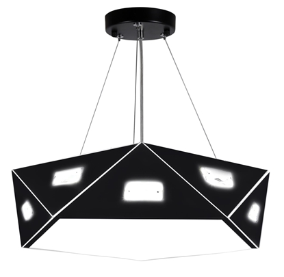 Lampa sufitowa wisząca regulowana metalowy czarny abażur z kryształami Nemezis Candellux 31-59130