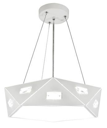 LAMPA SUFITOWA WISZĄCA CANDELLUX NEMEZIS 31-64875 PIĘCIOKATNY  24W LED 4000K BIAŁY