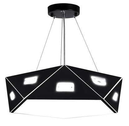 LAMPA SUFITOWA WISZĄCA CANDELLUX NEMEZIS 31-64882 PIĘCIOKATNY  24W LED 4000K CZARNY