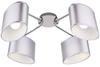Lampa sufitowa chromowa 4x40W abażur z tkaniny Ban Candellux 34-70784