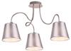 Lampa sufitowa chromowa 3x40W abażur z tkaniny Luk Candellux 33-70746