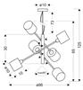 Lampa wisząca regulowana wysokośc satyna 6x40W Sax Candellux 36-70722