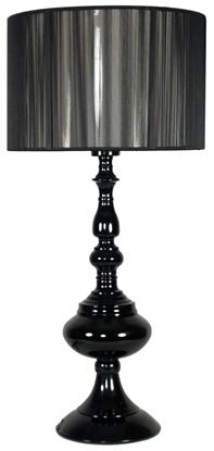 Lampka stołowa gabinetowa czarna abażur nitkowy Gillenia Candellux 41-21338