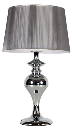 Lampka stołowa nocna srebrna abażur nitkowy Gillenia Candellux 41-11954