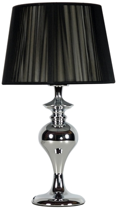 Lampka stołowa nocna cromowa czarna Gillenia Candellux 41-21413