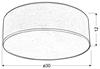Lampa sufitowa okrągła kremowa 2x40W E27 30cm Kioto Candellux 31-64677