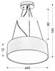 Lampa wisząca okrągła kremowa 40cm regulowana 3x40W Kioto Candellux 31-67739