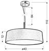 Lampa wisząca srebrzysto szara abażur tkany 3x60W Blum Candellux 31-46673