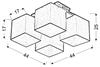 Lampa Sufitowa Candellux Boho 34-58485 E27 Biały Abażur Beżowy