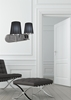 Kinkiet podwójny satynowy + czarny abażur 2x60W Milonga Candellux 22-53503
