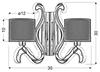 Kinkiet podwójny miedziany E14 święcące ramię LED Ambrosia Candellux 22-33529