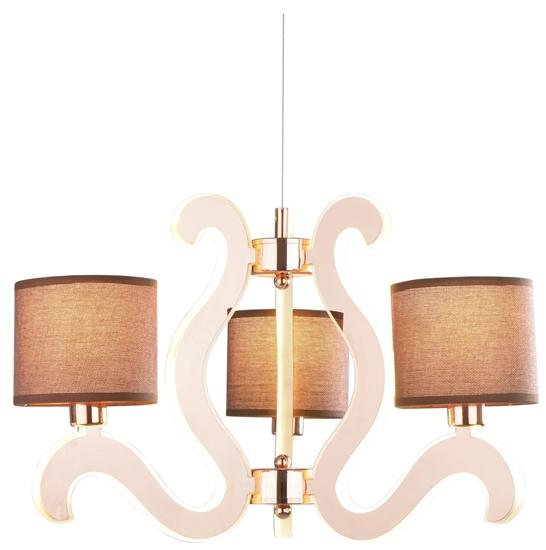 LAMPA SUFITOWA WISZĄCA CANDELLUX AMBROSIA 33-33888  E14 +  LED MIEDZIANY