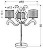 Lampa stołowa świecące ramiona x3 LED miedziana Ambrosia Candellux 43-33925