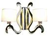 Kinkiet podwójny chromowy E14 święcące ramię LED Ambrosia Candellux 22-33871