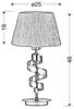 Lampka stołowa chromowa gabinetowa biały abażur Denis Candellux 41-23476