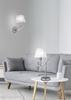 Lampka stołowa nocna chromowa abażur biały E14 Valencia Candellux 41-84609