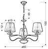 LAMPA SUFITOWA WISZĄCA CANDELLUX DIVA 33-55057  E14 CHROM / ZŁOTY