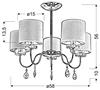 Lampa sufitowa wisząca chromowa Estera Candellux 35-11671