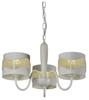 Lampa wisząca biała z koralikami żyrandol 3x60W Antonio Candellux 33-22998