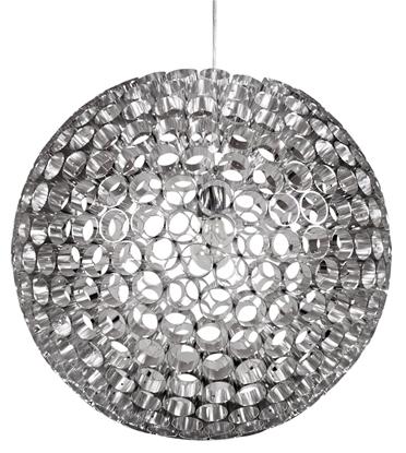 Lampa wisząca srebrna kula z rurek metalowych E27 Abros Candellux 31-94080
