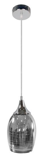 Lampa wisząca chromowa szklany lustrzany klosz Marina Candellux 31-60174