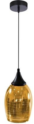 Lampa wisząca złoto-czarna szklany lustrzany klosz Marina Candellux 31-58003