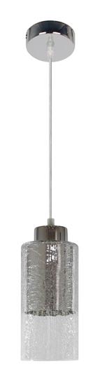 Lampa wisząca sufitowa srebrna szklany klosz E27 Libano Candellux 31-51646