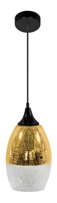 Lampa wisząca szklana regulowana złota E27 60W Celia Candellux 31-57303