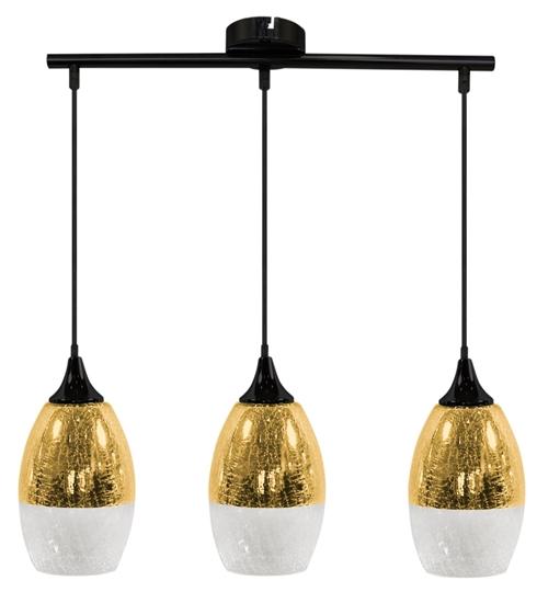 Lampa wisząca złota szklana regulowana 3x60W Celia Candellux 33-57327