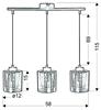 Lampa wisząca chromowa szklany klosz 3D 3x40W Nocturno Candellux 33-57709