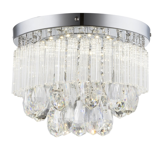 LAMPA SUFITOWA  CANDELLUX LONELLA 98-44792 PLAFON  LED CHROM