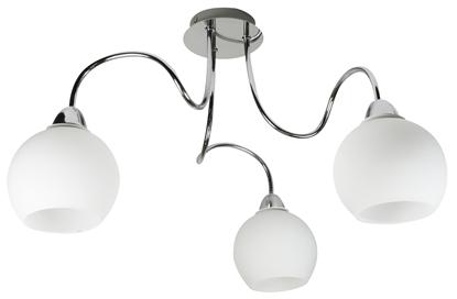Lampa sufitowa wisząca chromowa potrójna białe klosze Nelda Candellux 33-72573