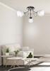 Lampa sufitowa chrom 3x40W biały klosz z kryształkami Simpli Candellux 33-63847