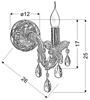 Kinkiet ścienny pojedynczy złoty z kryształkami Maria Teresa Candellux 21-95742