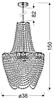 LAMPA SUFITOWA WISZĄCA CANDELLUX PERSEO 31-57488  E27 ZŁOTY+KRYSZTAŁKI