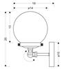 Kinkiet pojedynczy patynowy szklana kula Ballet Candellux 21-70852