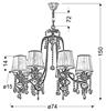 LAMPA SUFITOWA WISZĄCA CANDELLUX ADONIS 38-13873  E14 PATYNA