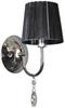 Kinkiet pojedynczy chrom abażur czarny Sorento Candellux 21-38036